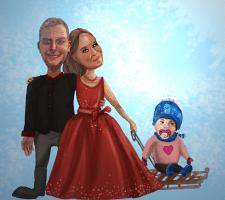 Карикатура (Рождество, заказ)