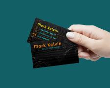 Дизайн визитки для веб-дизайнера