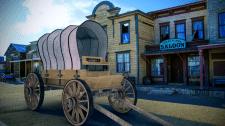 Повозка в стиле Western | Интеграция с изображение