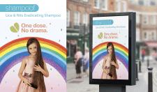 рекламный постер для шампуня