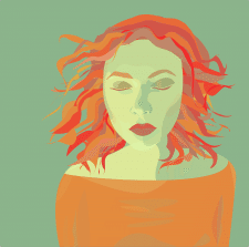 Девушка три цвета