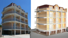 Моделирование здания по фото