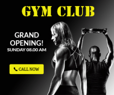 Banner for gym club