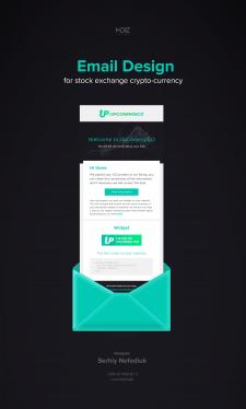 Дизайн E-mail рассылки UpcomingICO