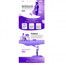Дизайн сайта для WHO.CPA