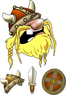 Персонаж-викинг