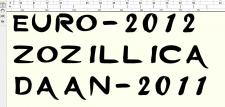 Создание неофициального шрифта ЕВРО-2012