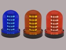 Warning Light Blue Orange Red 3D