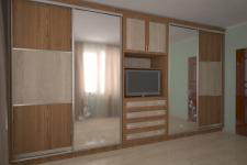 Дизайн и визуализация шкафа-купе