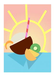 иллюстрация лето
