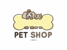 Логотип - Pet Shop. Зоомагазин.