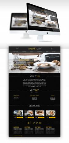 Дизайн сайта для ресторана итальянской еды