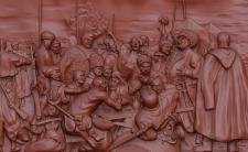 "3D модель ""Казаки пишут письмо турецкому султану"""