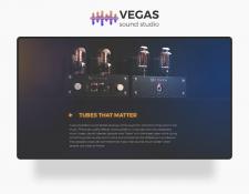 VEGAS Recording studio landing page