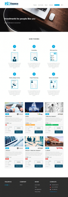Сайт-визитка для финансовой компании