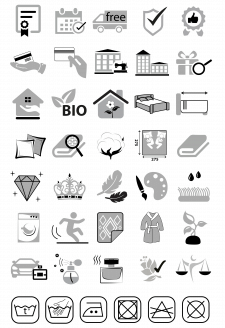 Набор иконок для сайта домашнего текстиля