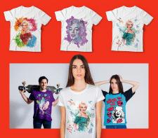Дизайн футболки в стиле Marilyn Monroe