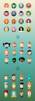 Vector avatars - people professions icons