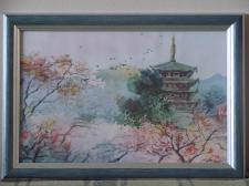 Работа Акварелью _ Китайский сад