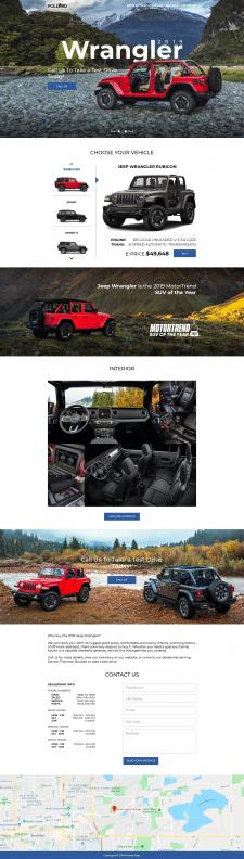 Лендинг пейдж для автодилера с Колорадо (США)