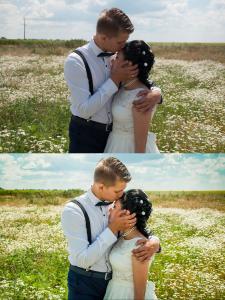 Ретушь и цветокоррекция свадебной фотографии