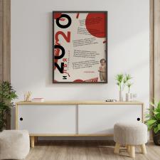 Подарочный постер для автора стихов в стиле книги