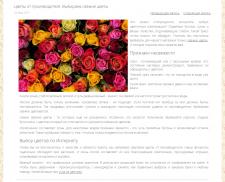Статья в блог для компании по доставке цветов