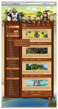 Дизайн игрового сайта «Pandoria»