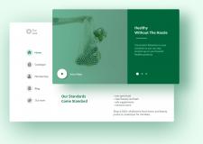 Дизайн сайта доставки здоровых продуктов