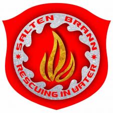 Огонь и вода. Логотип пожарной бригады