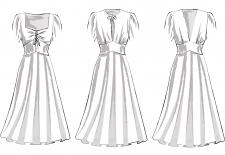 Технические рисунки платьев в художественном стиле