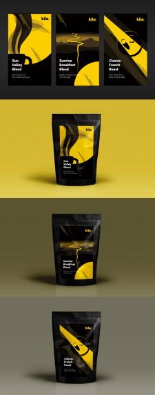 Разработка дизайна для линии упаковок кофе