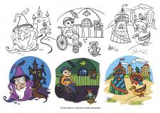 Детская книжка-раскраска