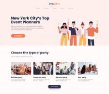 NYC Party - Блок для сайта праздничного агенства