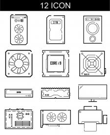 Иконки для интернет магазина компьютерной техники.