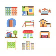 Иконки для разных видов недвижимости
