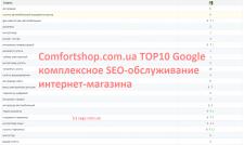 30 запросов в ТОП10 google для магазина