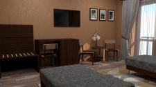 Визуализация комнаты санатория