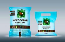 Дизайн упаковки Кокосового субстрата.