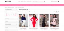 Наполнение интернет-магазина женской одежды DIEVA