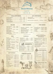 Разработка меню для спа-отеля