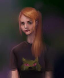 Цифровая живопись женский портрет