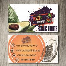"""Визитка для сети магазинов """"Fruit Ninja"""", Москва"""