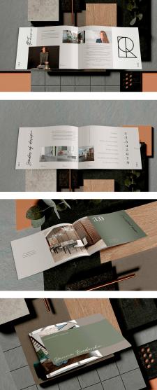 Многостраничная брошюра для дизайнера интерьера
