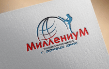 Логотип для магазина танцевальной школы Миллениум