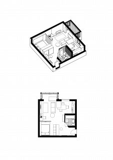 Інтер'єр квартири у 35 кв.м