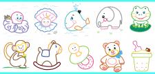 Пример раскрасок 3-5 цветами для детей 3-5 лет