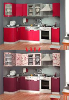 Замена текстуры и цвета на примере кухни