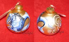 Роспись новогодних шариков Козерог