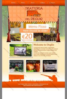 Сайт итальянского ресторана